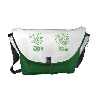 NOVINO Miss Green needs help Courier Bag
