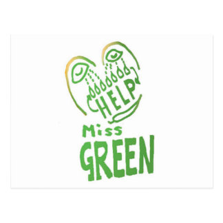NOVINO Miss Green needs help Post Cards
