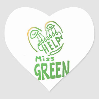NOVINO Miss Green needs help Stickers