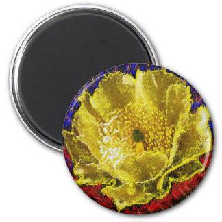 NOVINO - Oro de la obsesión floral Imán Redondo 5 Cm