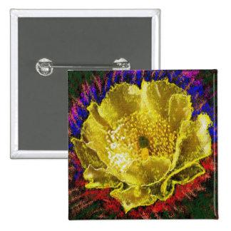 NOVINO - Oro de la obsesión floral Pin Cuadrada 5 Cm
