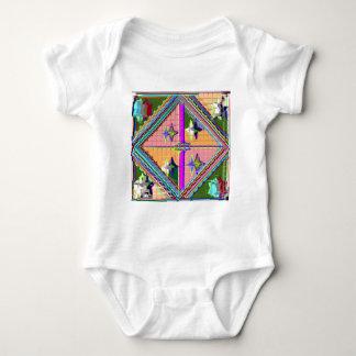 NOVINO Purple Star -  Healing Art Series Baby Bodysuit