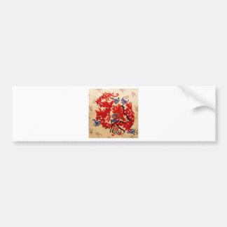 NOVINO Red n Gold Dragons Bumper Sticker
