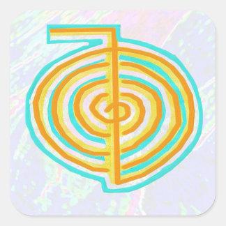 NOVINO ReikiHealing n KARUNA Reiki Symbols Square Sticker
