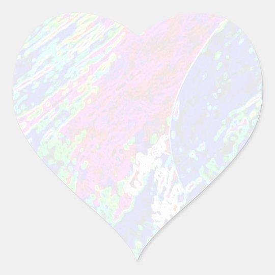 NOVINO Star Template - Waves Heart Sticker