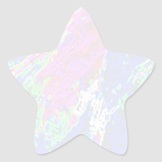 NOVINO Star Template - Waves Star Sticker