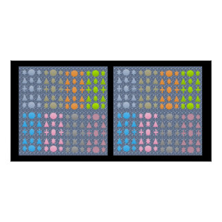 NOVINO Stars and Shapes Patterns 2 Posters