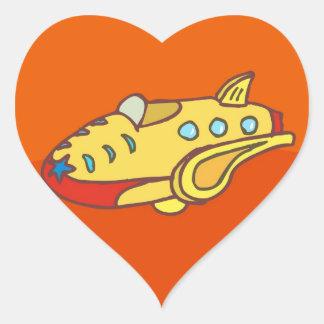 NOVINO Super Jet Heart Sticker