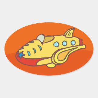 NOVINO Super Jet Oval Sticker