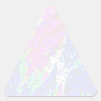NOVINO TriangleTemplate - ondas Pegatina Triangular