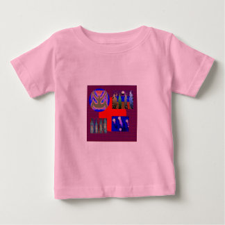 NOVINO Variety Collection Squares Rounds NumberOne Baby T-Shirt
