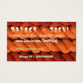 NOVINO Warm Sunny Wool Colors Business Card