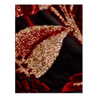 NOVINO Zazzling Golden Leaf Postcard