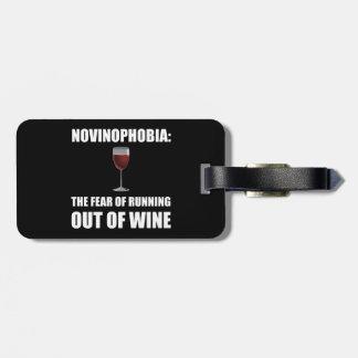 Novinophobia Wine Luggage Tag