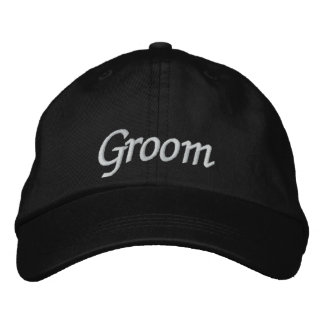 Novio bordado casando la gorra de béisbol/el gorra gorra de béisbol