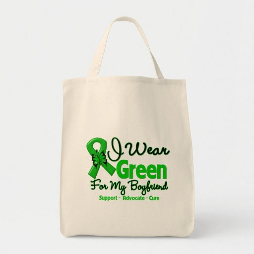Novio - cinta verde de la conciencia bolsa