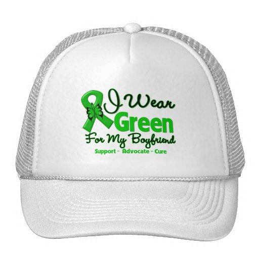 Novio - cinta verde de la conciencia gorras