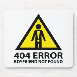 Novio de 404 errores no encontrado alfombrilla de raton