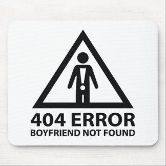 Novio de 404 errores no encontrado tapete de ratón