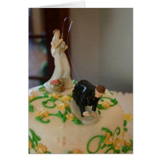 Novio de cogida de boda de la invitación de la tarjeta de felicitación
