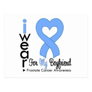NOVIO de la cinta del corazón del cáncer de prósta Tarjeta Postal