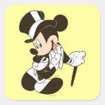 Novio de Mickey Mouse Calcomanías Cuadradas