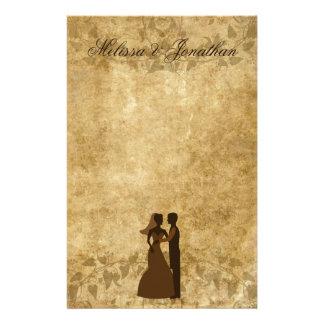 Novio de papel de la novia del vintage que se casa  papeleria de diseño