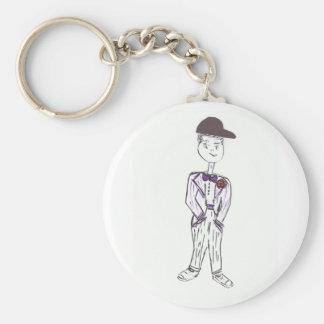 Novio del aficionado al béisbol llavero redondo tipo pin