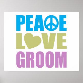 Novio del amor de la paz póster