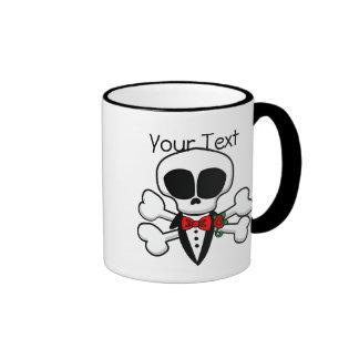 Novio del cráneo completamente adaptable taza de café