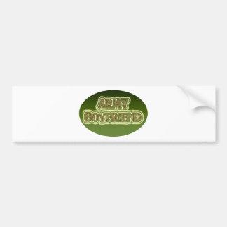 Novio del ejército pegatina de parachoque