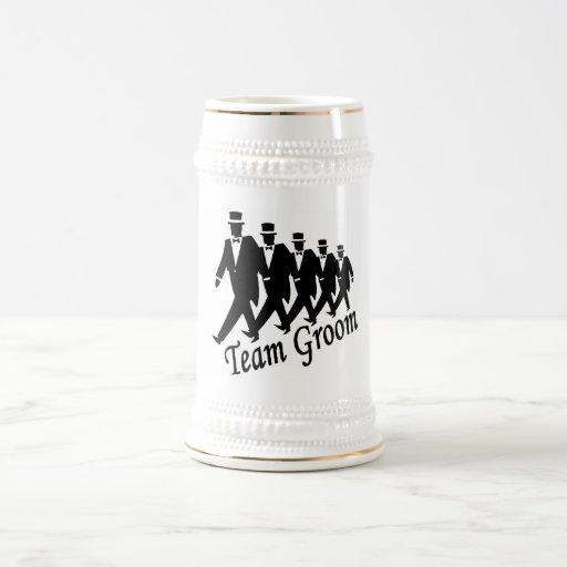 Novio del equipo jarra de cerveza