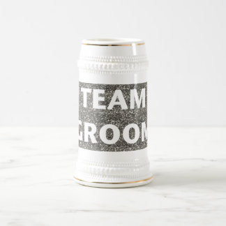 Novio del equipo (plata) jarra de cerveza