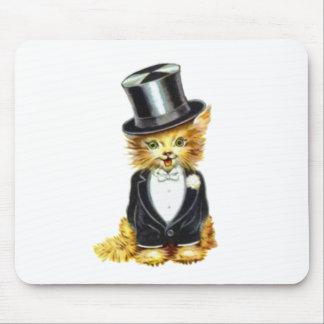 Novio del gato mouse pads