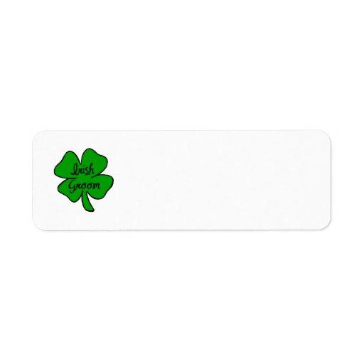 Novio del irlandés etiqueta de remite