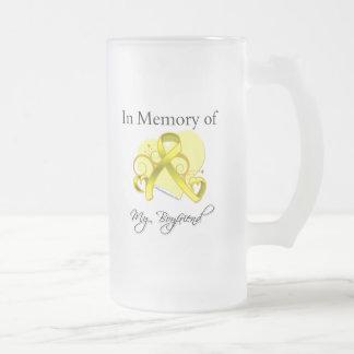Novio - en memoria del tributo militar taza de cristal