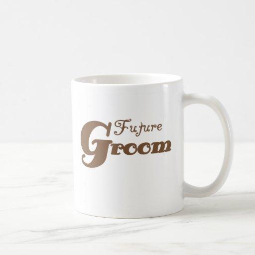 Novio futuro de Brown Taza Básica Blanca