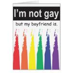 Novio gay Notecard Tarjeta Pequeña