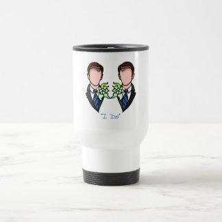 Novio gay taza de café