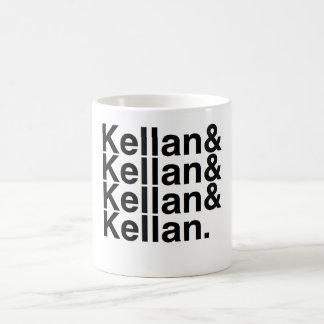 Novio Kellan, Kellan, Kellan, Kellan del libro Taza Básica Blanca