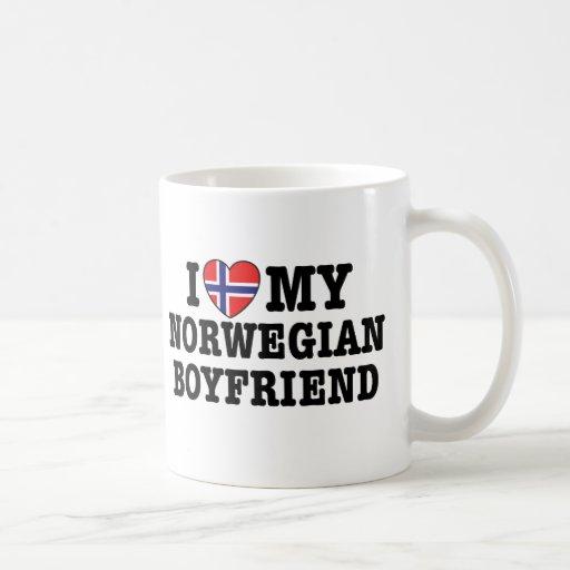 Novio noruego taza básica blanca