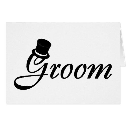 Novio (sombrero de copa del negro) tarjeta de felicitación