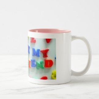 novio tazas de café