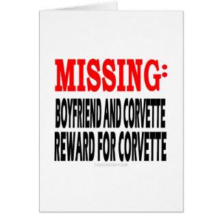 Novio y Corvette que falta Recompensa por Corvett Felicitaciones