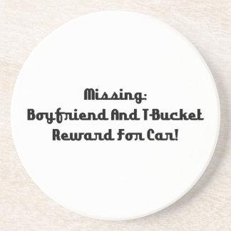 Novio y recompensa que falta de Tbucket por coche Posavasos Personalizados