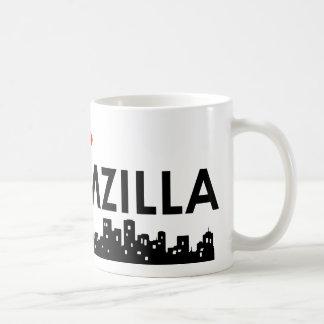 novio-zilla taza básica blanca