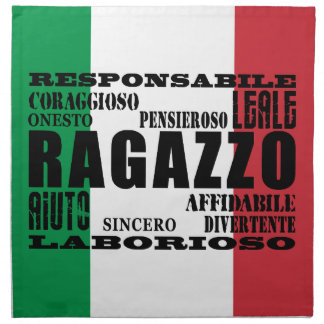 Novios italianos: Calidades Servilletas Imprimidas