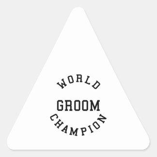 Novios retros frescos: Novio del campeón del mundo Calcomanía De Trianguladas