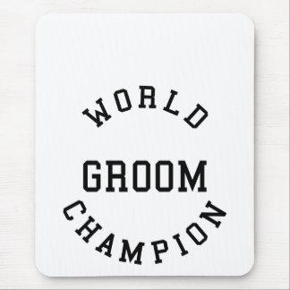 Novios retros frescos: Novio del campeón del mundo Alfombrilla De Ratones