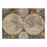 Novissima Totius Terrarum Orbis Tabula Map Greeting Card